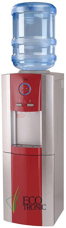 Кулер для воды Ecotronic G8-LF с холодильником. Красные и черные вставки