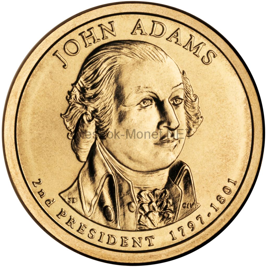 1 доллар США 2007 год Серия Президентские доллары Джон Адамс