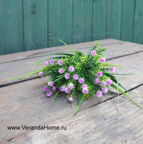 Трава с розовыми цветочками