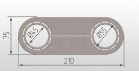 Обвод для труб 45/55 мм (усиленный)