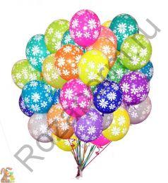 Шары с гелием днем рождения (латекс)
