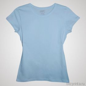 Женская светло-голубая футболка без рисунка MODERN