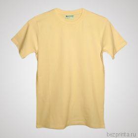 Мужская кремовая футболка стрейч без рисунка REDFORT