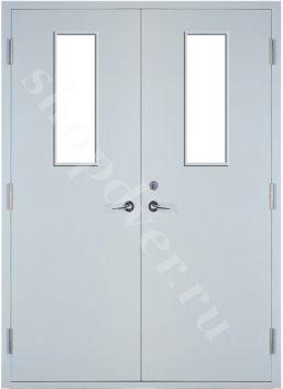 Тамбурные двери порошковое напыление с двух сторон с стеклопакетом