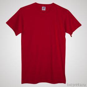 Мужская красная футболка без рисунка FRUIT OF THE LOOM