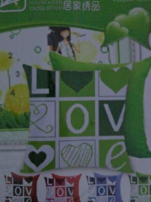 """Купить набор для вышивания крестом: наволочка """"Любовь"""""""