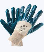 перчатки маслобензостойкие с неполным нитрильным покрытием, манжет резинка