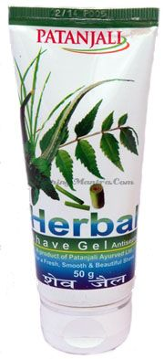 Гель-антисептик для бритья Патанджали Аюрведа | Divya Patanjali Herbal Shave Gel
