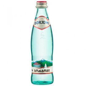 """Минеральная газированная вода """"Боржоми"""" 0,33 л в стекле (в упаковке 12 шт)"""