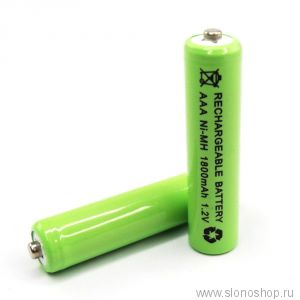 Аккумуляторная батарейка ААА 1800mAh 1.2v