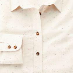 Женская рубашка цвета шампань с рисунком Charles Tyrwhitt приталенная Fitted (WP057NTL)