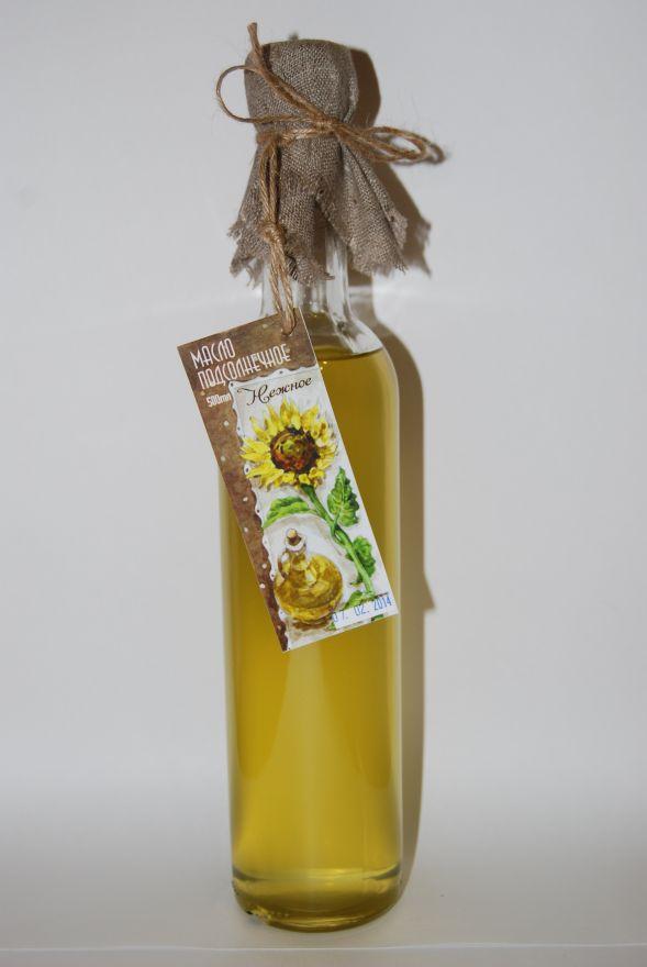 Масло подсолнечное холодного отжима «Нежное»