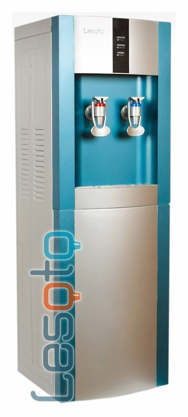 Кулер для воды Lesoto 16 L-B/E blue-silver с холодильником