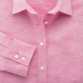 Женская рубашка розовая Charles Tyrwhitt приталенная Fitted (WA063PNK)