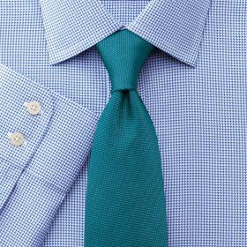 Мужская рубашка бело-синяя Charles Tyrwhitt не мнущаяся Non Iron приталенная Slim Fit (FN430BLU)