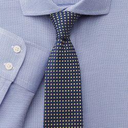 Мужская рубашка темно-синяя Charles Tyrwhitt не мнущаяся Non Iron приталенная Slim Fit (FA209BLU)