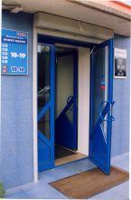 Входные, уличные алюминиевые двери
