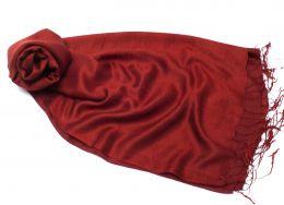 Палантин из шелка винного цвета (под заказ)
