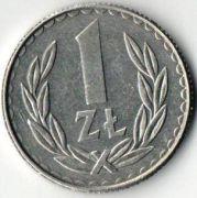 1 злотый.1988 год. Польша.