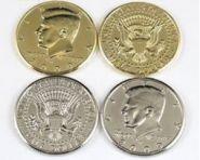 Монета Half Dollar 3 см