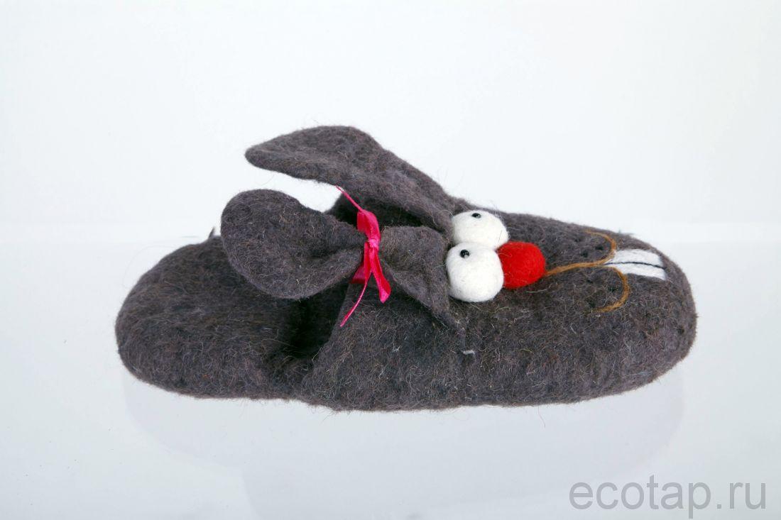 Прикольные тапочки - зайцы