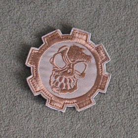 Нашивка череп в шестеренке (с velcro)
