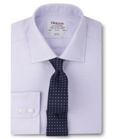 Мужская рубашка сиреневая T.M.Lewin приталенная Slim Fit (52598)