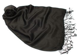Чёрный шелковый шарф (под заказ)