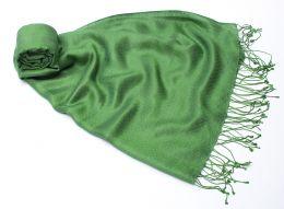 Зелёный шелковый шарф (шелк + шерсть), Москва