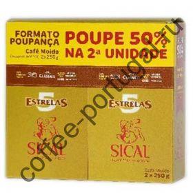"""Кофе """"Sical 5 Estrelas"""" тонкий помол  500 гр"""