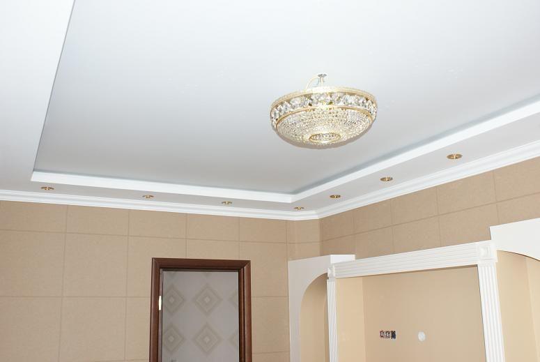 Матовый белый натяжной потолок цена за кв. м