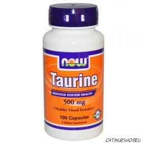 Таурин, 500 мг, 100 капсул