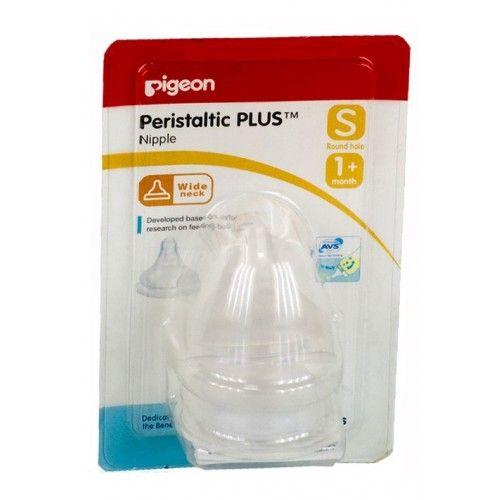 """Pigeon Соска Перистальтик """"+"""" с широк.горлом, 2 шт. Размер S"""