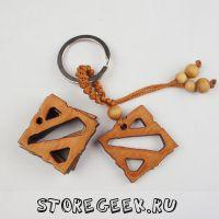 купить уникальный деревянный брелок-логотип Dota 2