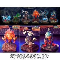 Уникальный Набор Петов из World Of Warcraft (Spectral, Raptor, Pandaren, Fire Elemental, Frost Varm pet, Murloc Deepsea)