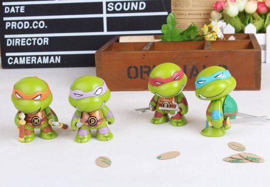 Комплект фигурок черепашки - ниндзя (Teenage Mutant Ninja Turtles) 4 персонажа по 8 см