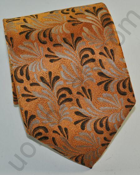 галстук оранжевый в лапки