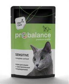 ProBalance Sensitive д/кошек c чувствительным пищеварением 85г