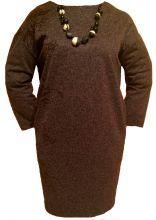 стильное платье с бусами.размер 50,52,54