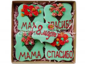 Кондитерские подарки для женщин Оригинальные наборы подарков «8 марта»