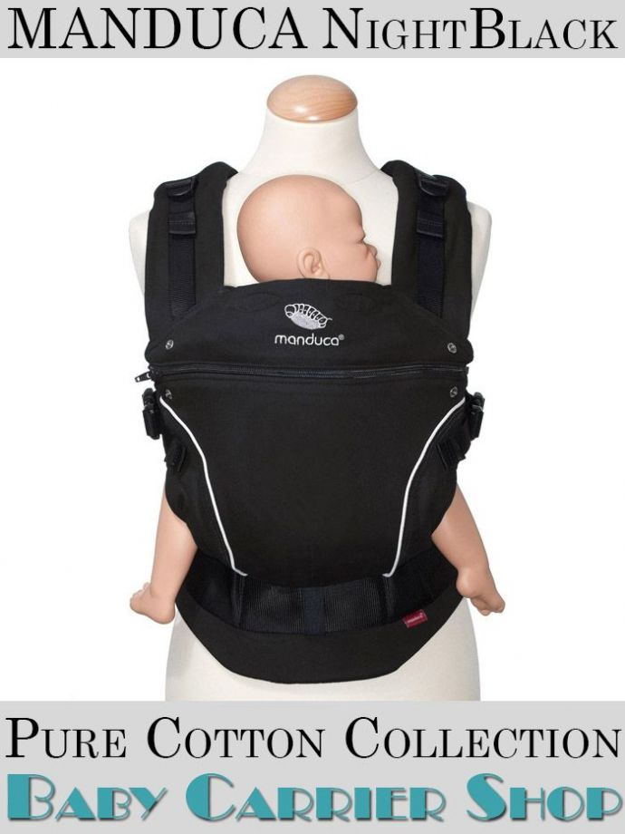 Слинг-рюкзак MANDUCA Baby And Child Carrier Эргорюкзак для переноски малышей «NightBlack PureCotton» [Мандука слингорюкзак Черный]