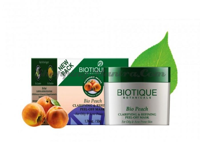 Маска-пленка для лица Биотик Персик (Biotique Bio Peach Face Pack)