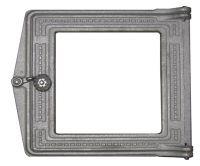 Дверка топочная чугунная со стеклом