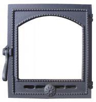 Дверка топочная чугунная, герметичная со стеклом