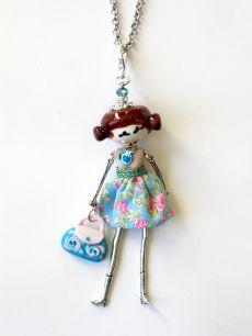 Подвеска Куколка Doll  муранское стекло