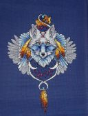 Схема для вышивки крестом Ловец снов - Волк2. Отшив