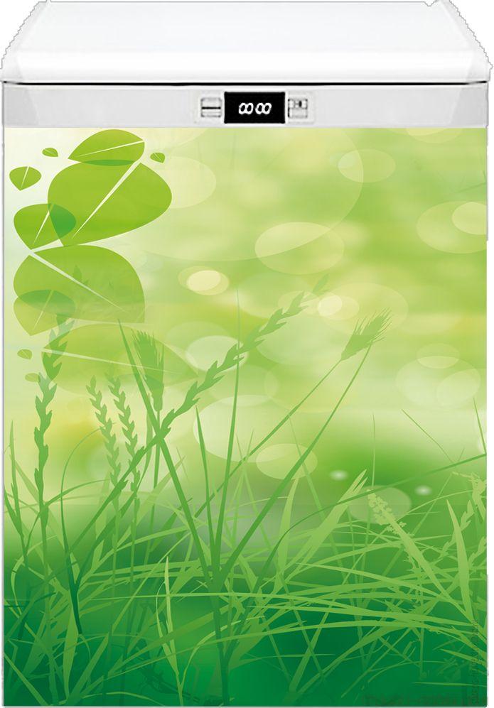 Наклейка на посудомоечную машину - Зеленая трава