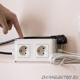 Блок управления двумя электрическими розетками