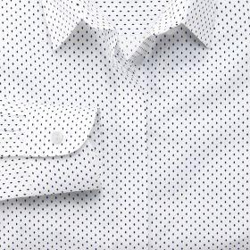 Женская рубашка белая в синий ромбик Charles Tyrwhitt не мнущаяся Non Iron приталенная Fitted (WR082WNV)