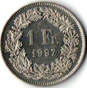 1 франк . 1997 год.